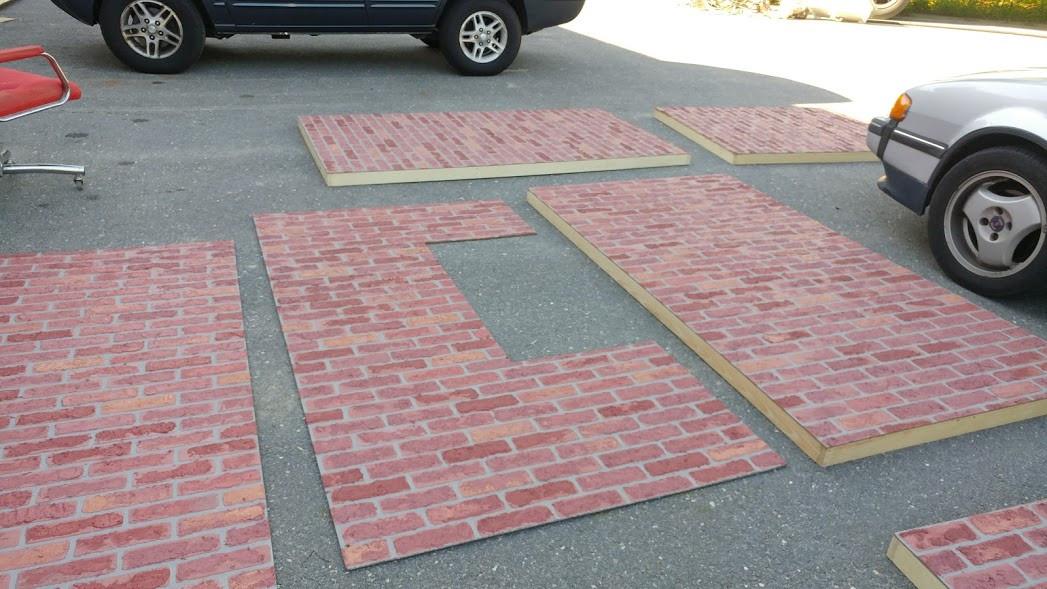 brick in progress