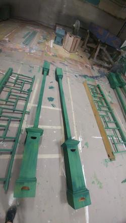 Columns and railing