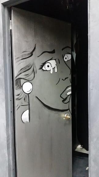 Back wall door detail