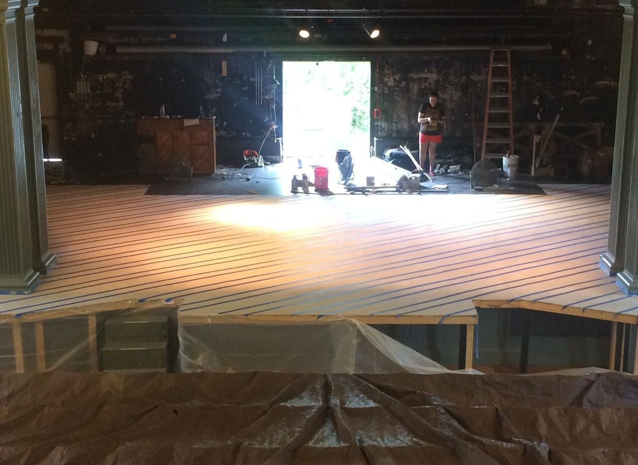 Floor in progress