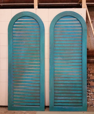 shutters on pilasters