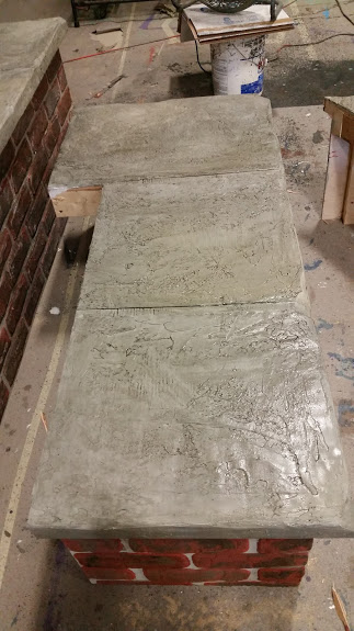 Slate bench top detail