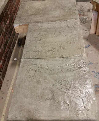 rock bench slab