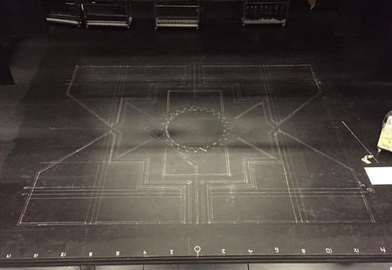 layout with chalk