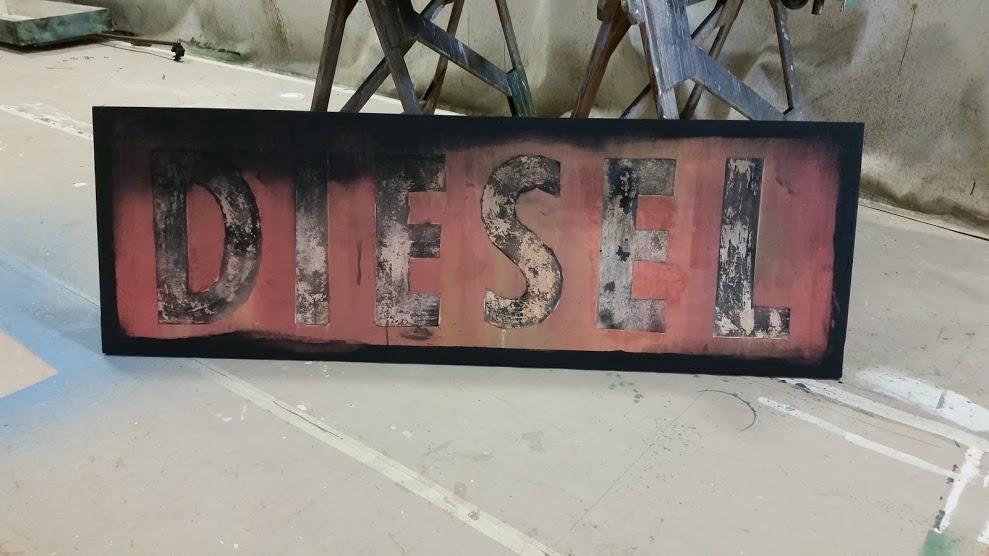 Diesel sign