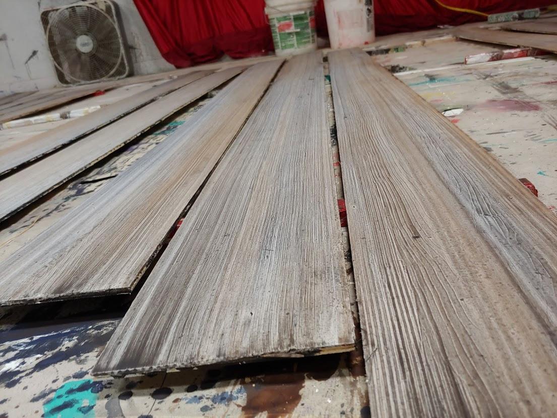 in process Ok! barn wood