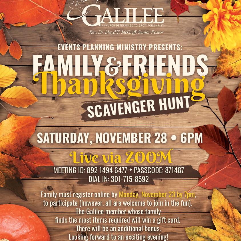 Family & Friends Thanksgiving Scavenger Hunt