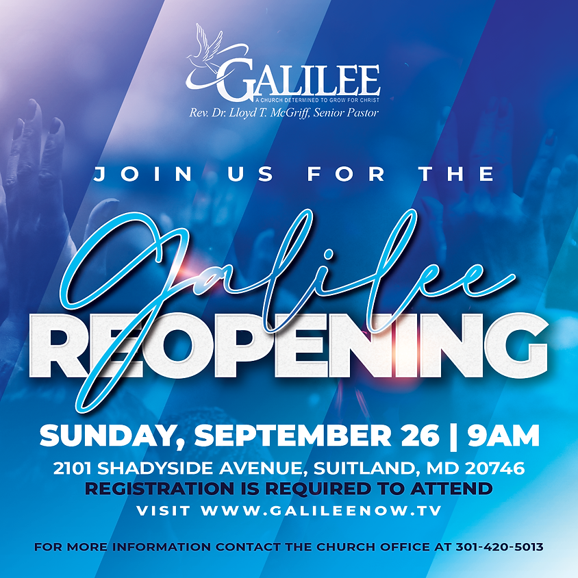 Galilee Reopening