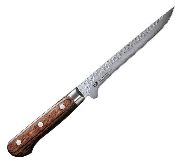 Нож кухонный обвалочный SUNCRAFT Senzo Universal (165мм) дерево