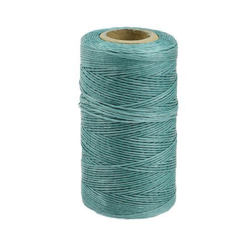 Нить вощеная 0,8мм Зелёно-голубой