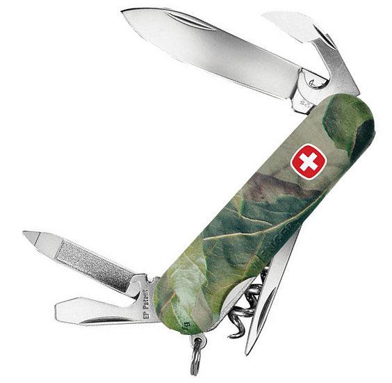 Нож складной WENGER Hardwoods 10, камуфляж 85мм