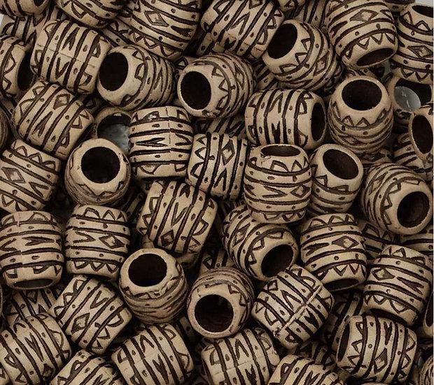 Бусы (диаметр 1 см цвет коричневый)
