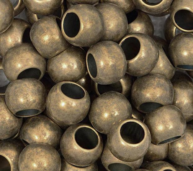 Бусы (диаметр 1 см цвет бронзовый)
