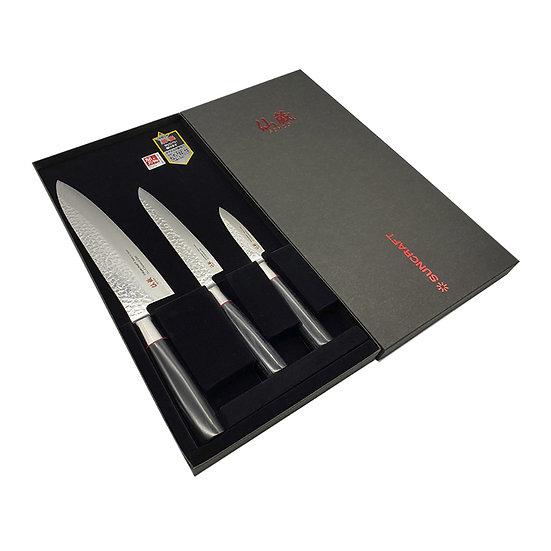 Набор кухонных ножей SUNCRAFT SENZO CLASSIC  дерево