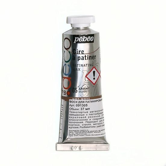 Воск PEBEO для патинирования (серебро) 37мл.