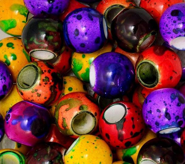 Бусы (диаметр 1,5 см цвет мультиколор)