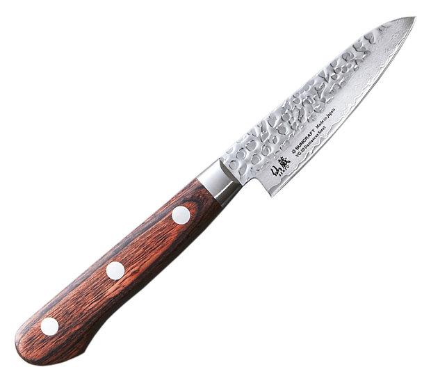 Нож кухонный овощной SUNCRAFT Senzo Universal (90мм) дерево