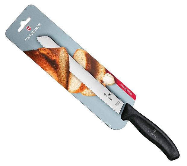 Нож кухонный для хлеба VICTORINOX (210мм) черный