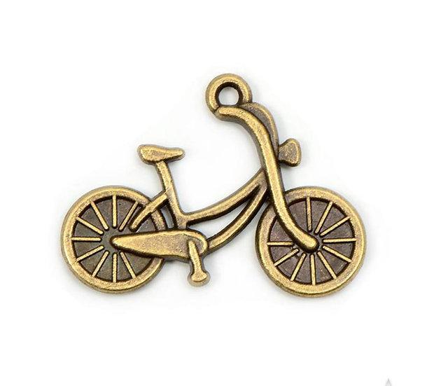 Подвеска велосипед (размер 2х2,5 см цвет бронзовый)