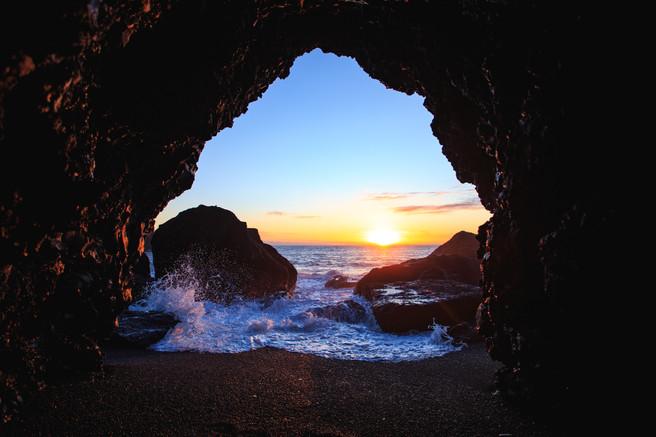 Cave at Black Beach Iceland