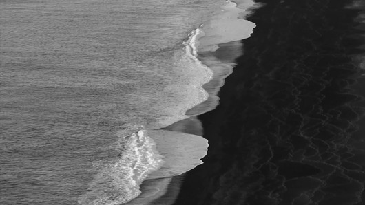 Iceland - Black beach b&w.mp4