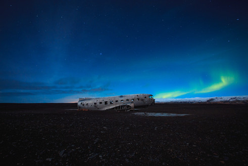 Crashed plane in Iceland