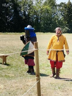Démonstration de combat médiéval