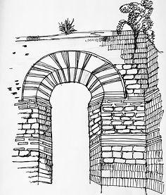 Arch drawing, Hannah Roach