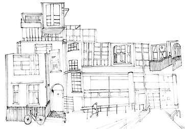 Dwelling space drawing, Hannah Roach