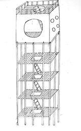Living unit drawings, Hannah Roach