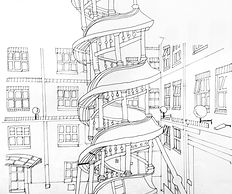 Dwelling space drawing, Hannah Roach
