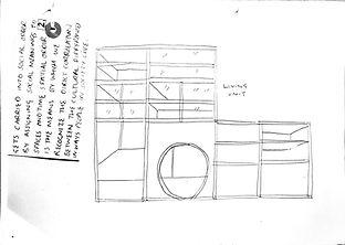 Living unit drawing, Hannah Roach