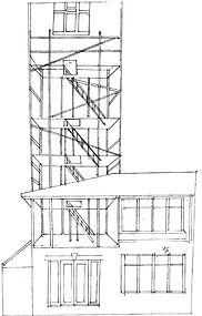 House drawing, Hannah Roach