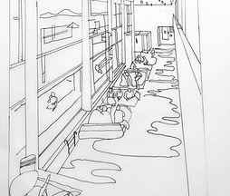 Swimming pool drawing, Hannah Roach