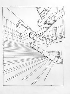Staircase office drawing, Hannah Roach