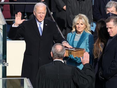 Joe Biden's Body Language During His Inauguration Speaks Volumes