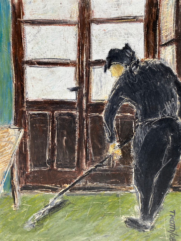 Mopping in the bar