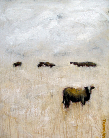 Cow staring