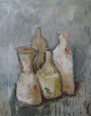 Bottles, still life