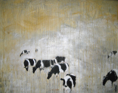 Cows in the prairie