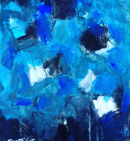 Deconstruction blue