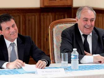 Visite de Manuel Valls, Ministre de l'Intérieur au Courbat