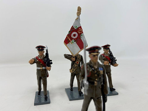 Set 246 - Royal Gibraltar Regt. Colour Party in Khaki