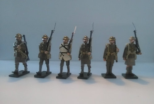 Special Offer - WWI Set of 6 Marching Figures