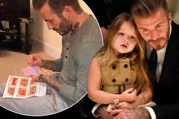 David Beckham crafting