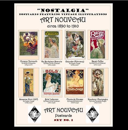 Art Nouveau Postcards Set No.1