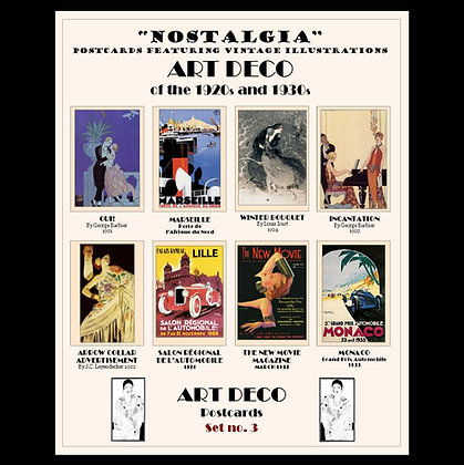 Art Deco Postcards Set No.3