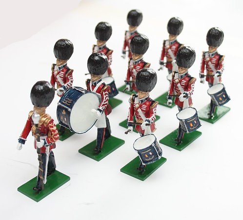 Set 112, Scots Guards Drum Corps, marching, 10 piece.