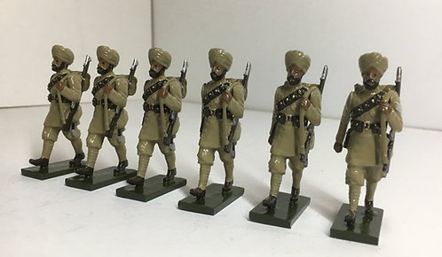 OTF 8, WWI Sikh troops, marching.