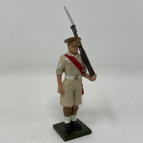 Fig 124 - Scots Guards Sergeant, Peak Cap, at Attention